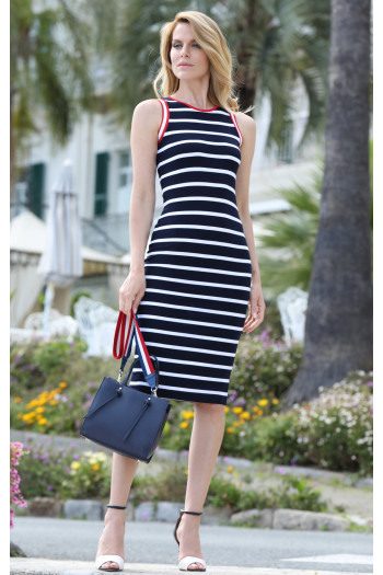 Straight striped dress