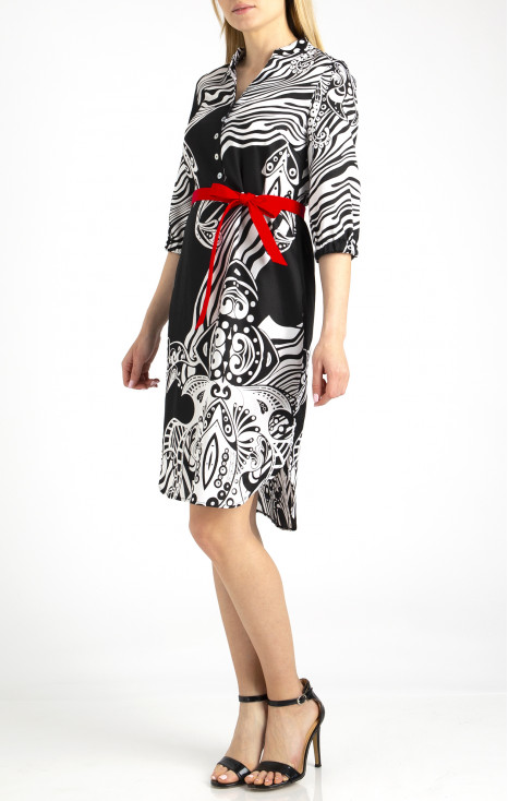 Shirt type dress.