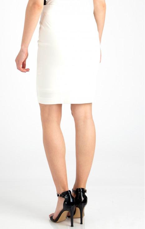 Stretch white jersey skirt