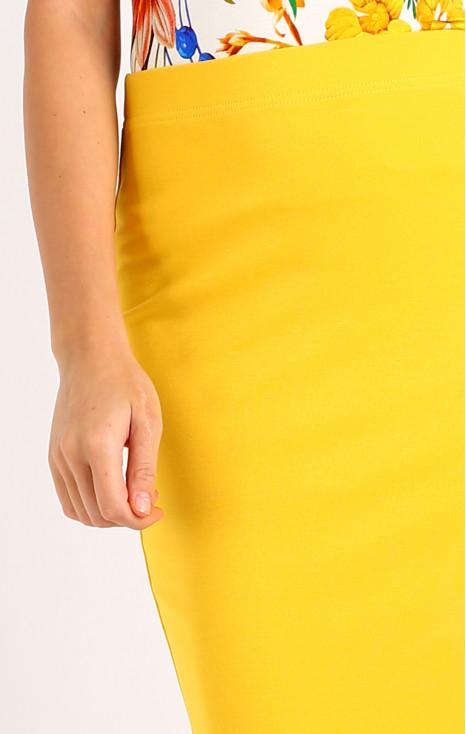 Stretch yellow jersey skirt