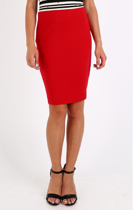 Straight jersey skirt