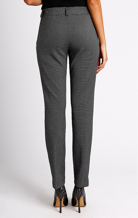 Straight-fit black and white trousers