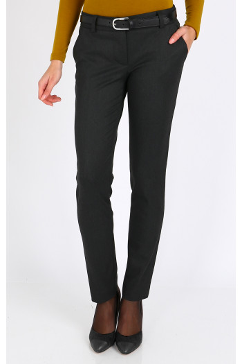 Straight-fit grey trousers