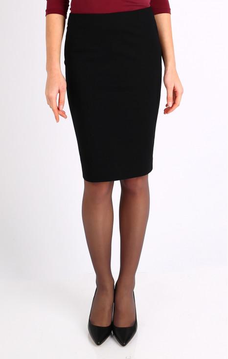 Black jersey skirt
