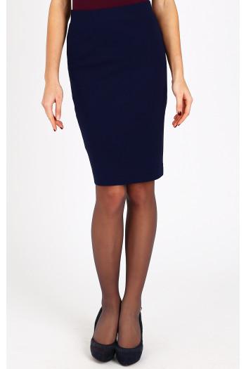 Dark blue jersey skirt