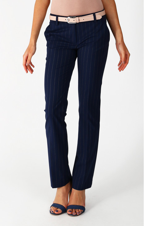 Straight - fit dark blue trousers