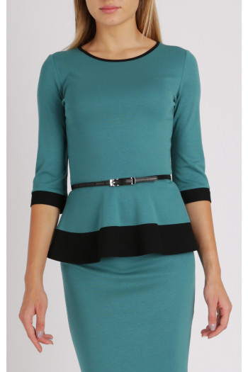 Turquoise 3/4 sleeve top