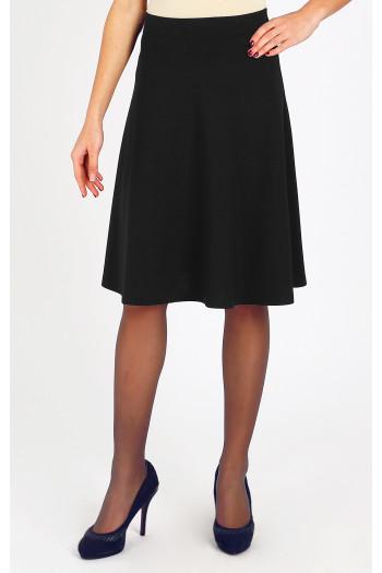 Black flowy jersey skirt