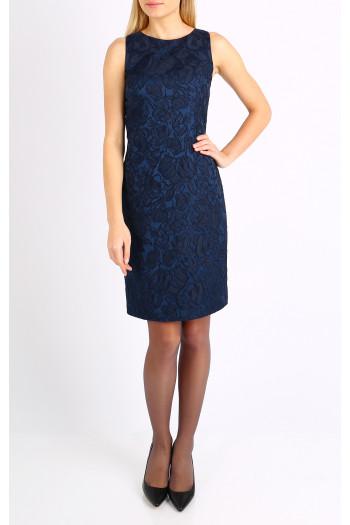 Stretch jacquard dress