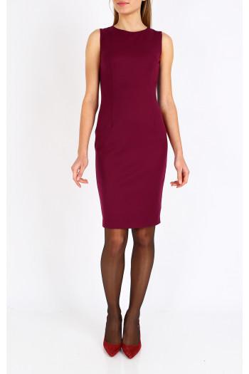 Elegant sleeveless straight-fit dress