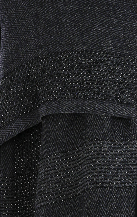 Wool-cotton scarf