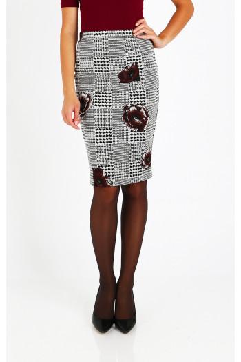 Elegant figure print skirt