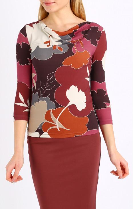 Waterfall neckline blouse
