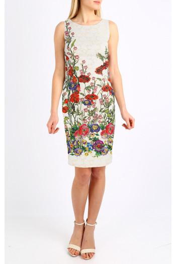 Satin jacquard dress