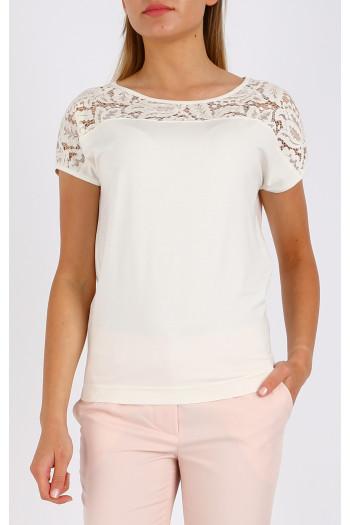 Dropped shoulders blouse