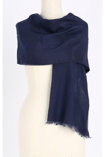 Silk-cotton scarf