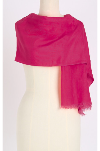Silk-cotton scarf
