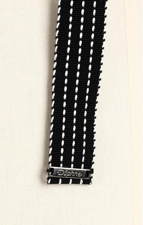Black cotton belt