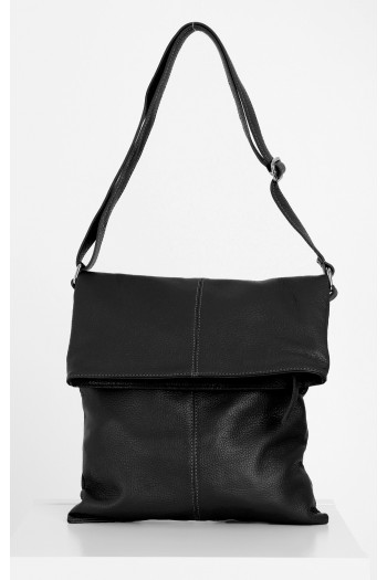 Tote bag with fold-down top