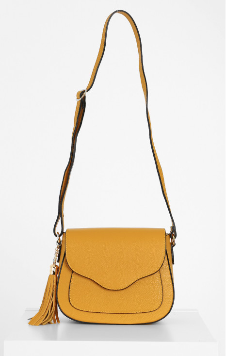 Oval crossbody bag