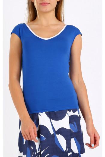 Short sleeve v-neck blouse
