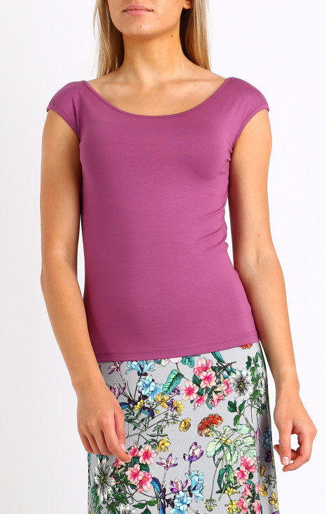 Fitted blouse from soft and stretchy tricot