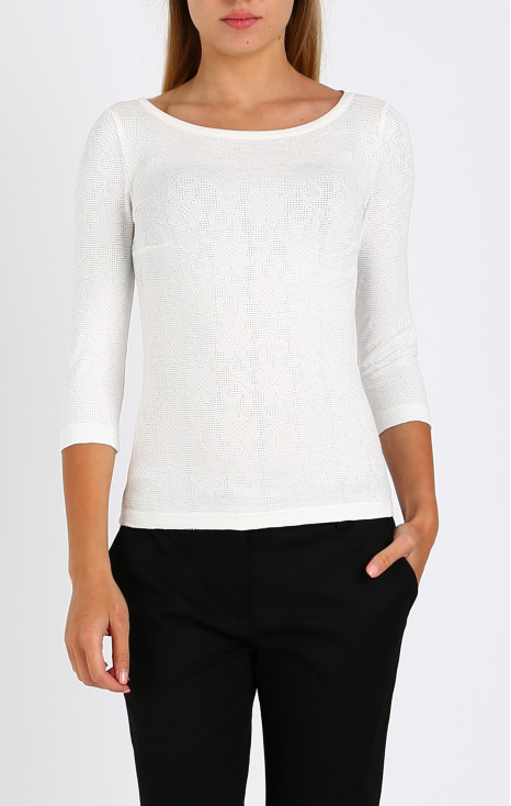 Slim-fit lace top
