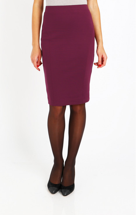 Stretch pencil skirt in Mauvewood