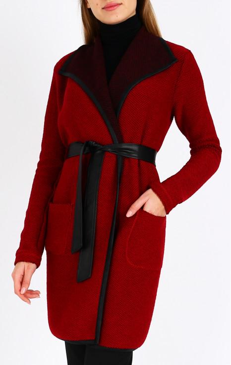 Long elegant woven cardigan