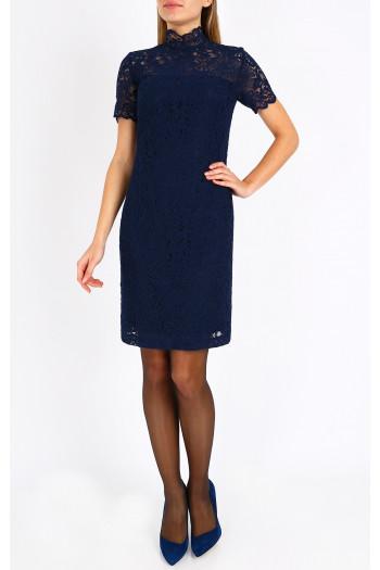 Formal lace dress in dark blue