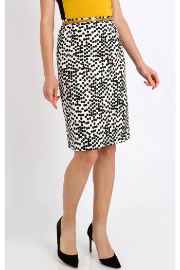 Classic Straight polka dots skirt