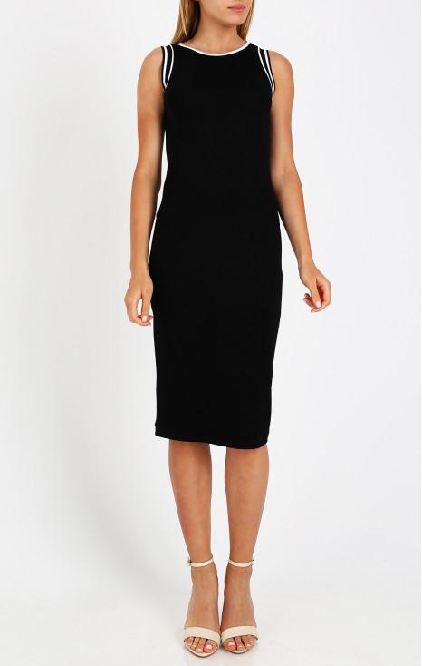 Straight - fit black dress