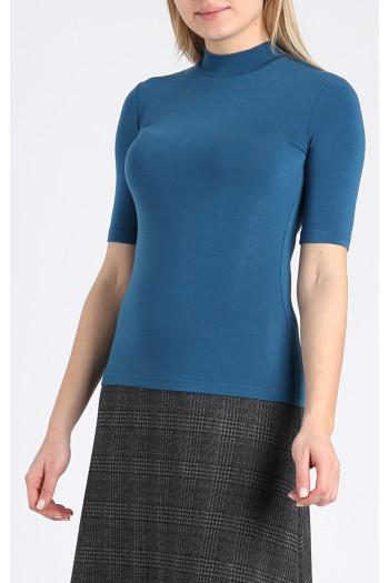Short sleeve top with Swarovski crystals