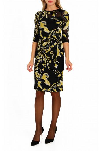 Transparent straight midi dress
