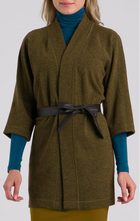 Stylish cardigan with wool