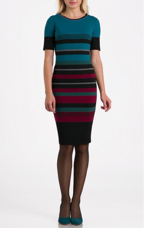 Striped straight-fit dress