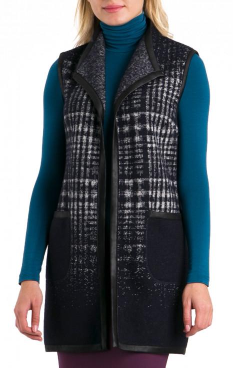 Long wool cardigan
