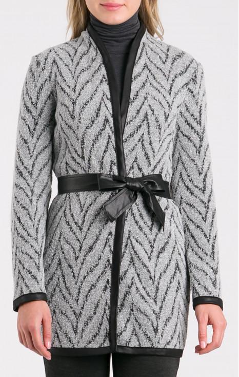 Elegant woven cardigan