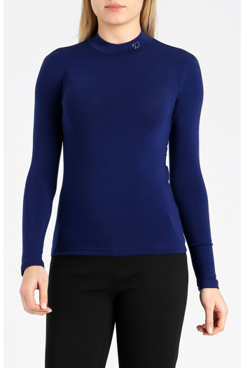 Long sleeve top with logo from Swarovski crystals