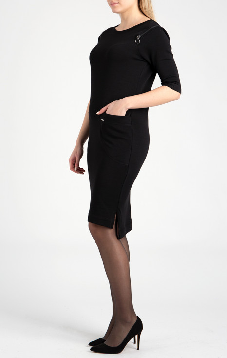 Midi dress in wool-cotton jersey
