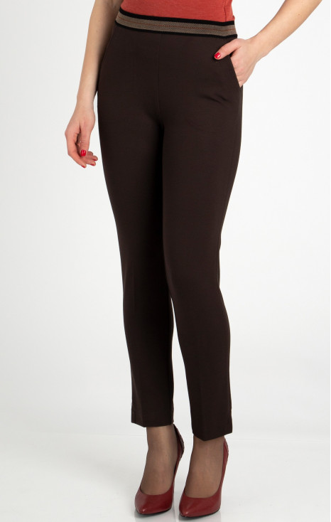 Straight-fit trousers from tricot