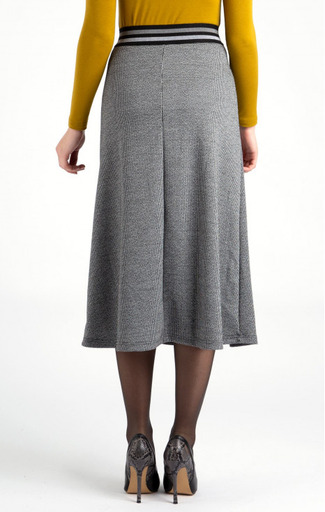 Pipit-printed  skirt
