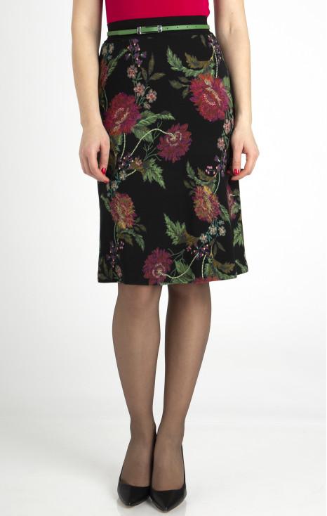 Flowy midi skirt