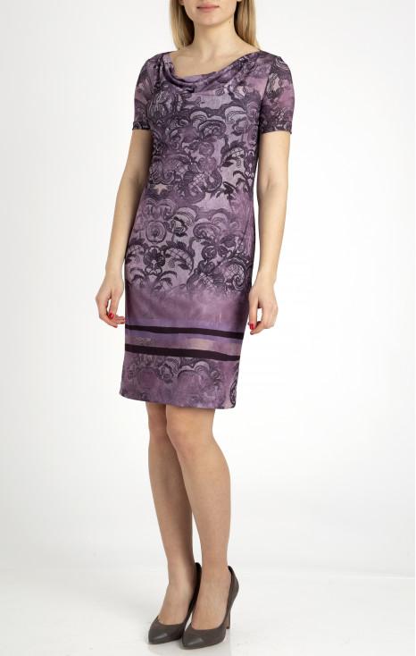 Short sleeve straight dress