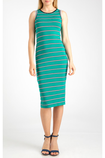 Straight striped dres