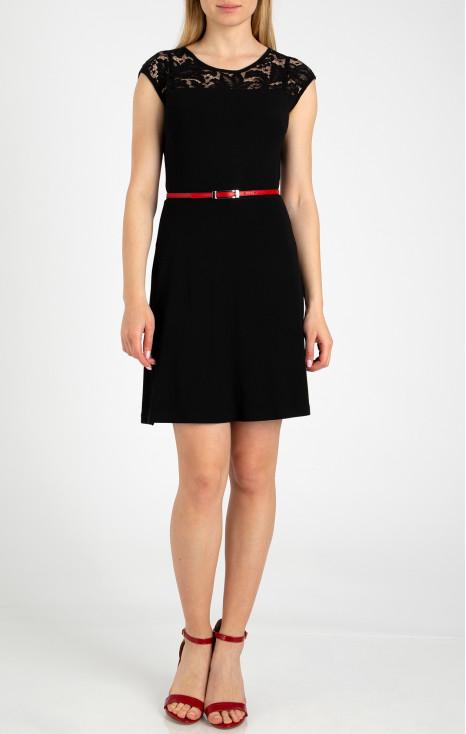 A-line lace back dress