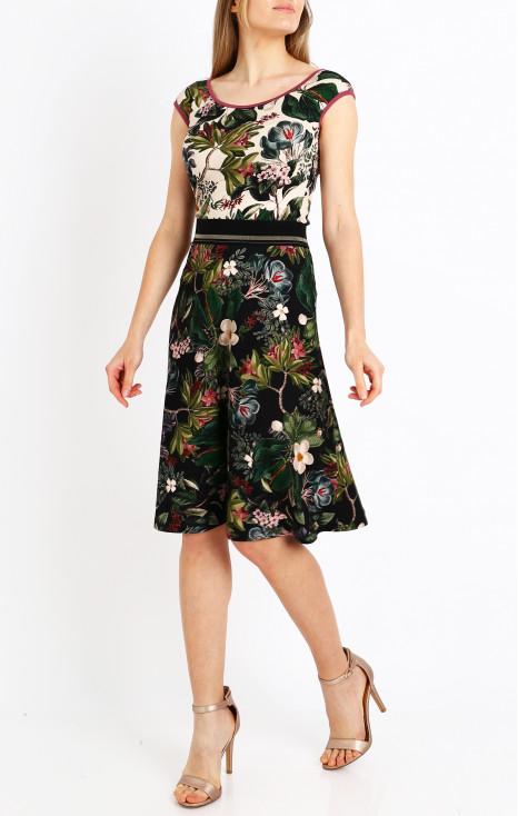 Flowy jersey skirt