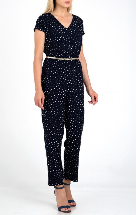 Jumpsuit in polka dots.