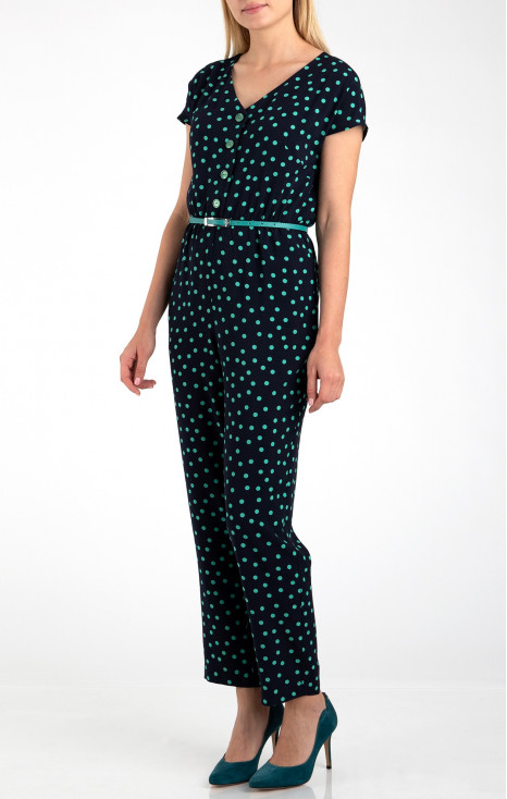 Jumpsuit in polka dots