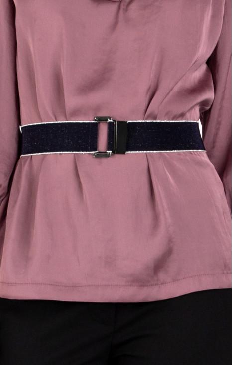 Elastic belt with front closure